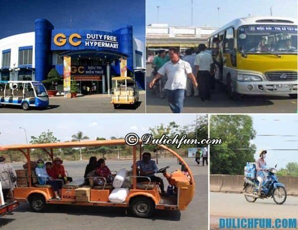 Phương tiện di chuyển ở Mộc Bài. Đi xe gì ở Mộc Bài. Cẩm nang du lịch Mộc Bài