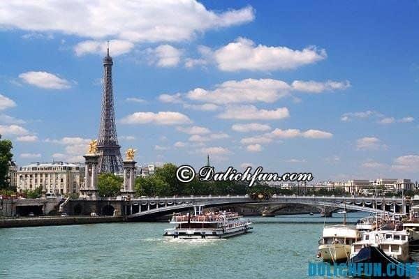 Sông Seine thơ mộng, địa điểm du lịch đẹp nổi tiếng ở Paris, top những điểm đến đẹp ở Paris - Du lịch Paris nên đi đâu chơi, tham quan?