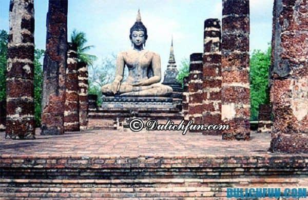 Sukhothai, kinh đô cũ của Thái Lan, điểm du lịch Bắc Thái Lan hấp dẫn.