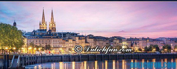Địa điểm du lịch nổi tiếng ở Pháp. Du lịch Pháp đi đâu chơi? Thành phố Bordeaux, thành phố du lịch nổi tiếng ở Pháp, thành phố du lịch hấp dẫn nhất nước Pháp