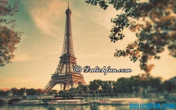 Tháp Eiffel, biểu tượng nước Pháp, địa điểm du lịch đẹp nổi danh ở Paris: Nên đi đâu chơi, tham quan khi du lịch Paris Pháp?