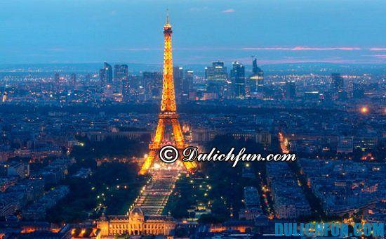 Tháp Eiffel, địa điểm tham quan du lịch nổi tiếng ở Paris. Khám phá các điểm du lịch đẹp ở Paris