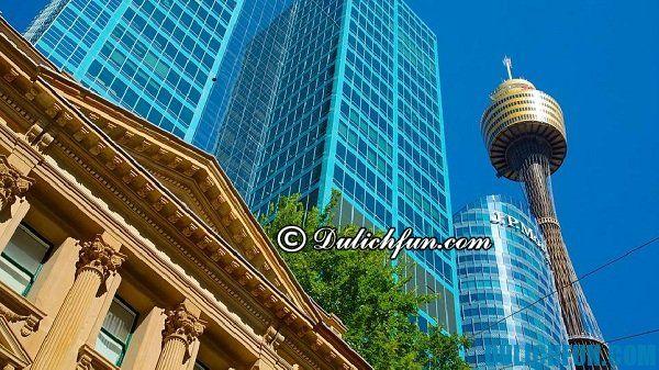 Tháp Sydney, điểm du lịch nổi tiếng nhất Sydney. Du lịch Sydney chơi ở đâu đẹp, nổi tiếng