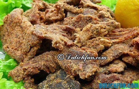 Thịt bò rừng khô, món ăn thơm ngon, hấp dẫn ở Tây Tạng bạn nhất định phải thử