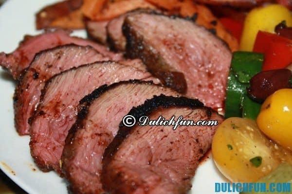 Thịt cá sấu Úc. Món ngon trong ẩm thực Úc. Đặc sản Úc