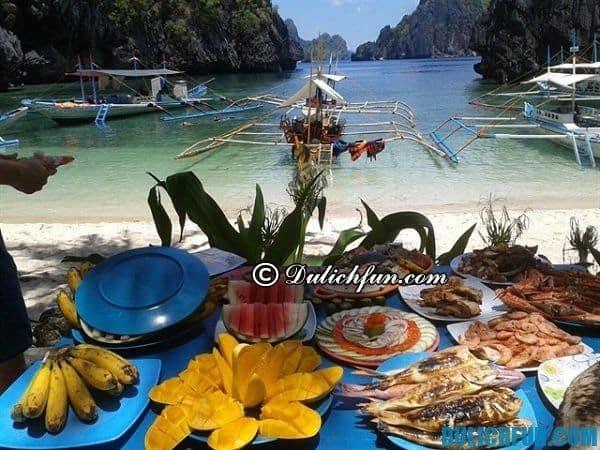 Thưởng thức ẩm thực ở El Nido Philippines, Hướng dẫn và kinh nghiệm du lịch El Nido Philippines