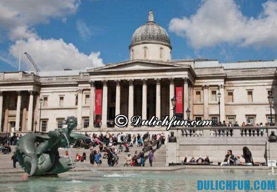 Kinh nghiệm du lịch London giá rẻ: Trafalgar Square, địa điểm tham quan du lịch đẹp, nổi tiếng ở London bạn nhất định phải tới