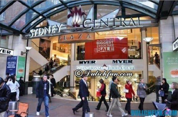 Trung tâm mua sắm ở Sydney, hướng dẫn, tư vấn kinh nghiệm du lịch Sydney đầy đủ nhất