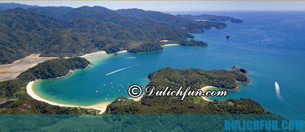 Vườn quốc gia Abel Tasman, địa điểm du lịch nổi tiếng ở New Zealand. Khám phá những địa danh du lịch đẹp ở New Zealand