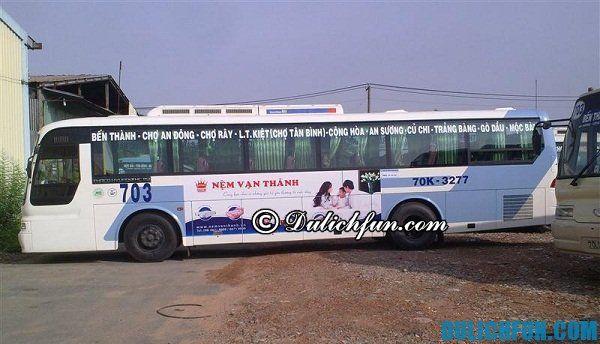 Cách di chuyển tới Mộc Bài. Xe bus tới Mộc Bài. Hướng dẫn du lịch Mộc Bài