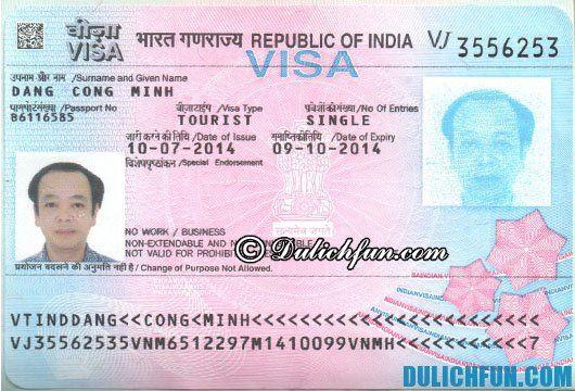 Hướng dẫn du lịch Ấn Độ - xin visa