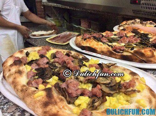 Địa chỉ ăn pizza ngon, hấp dẫn ở Rome