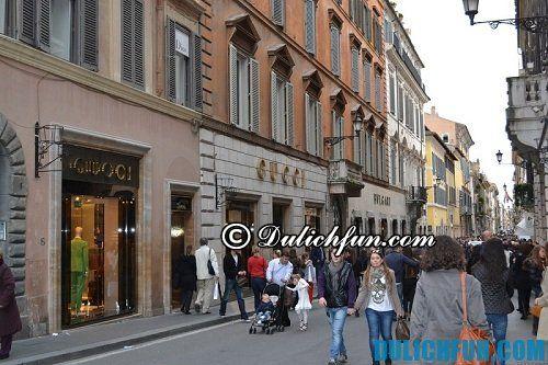 Những địa chỉ mua sắm đồ cao cấp ở Rome