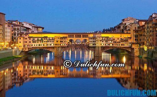 Tổng hợp những địa điểm du lịch hấp dẫn nhất ở Florence: cây cầu Vecchio