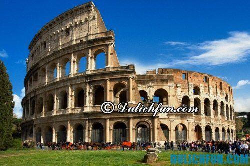 Những địa điểm du lịch hấp dẫn ở Rome: đấu trường La Mã cổ đại