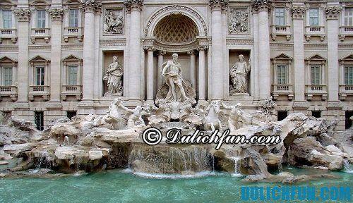 Những địa điểm du lịch hấp dẫn ở thành Rome: đài phun nước Trevi nổi tiếng