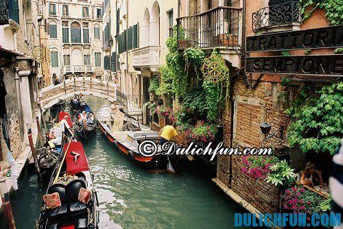 Những địa điểm du lịch hấp dẫn ở Italia: thành phố tình yêu Venice