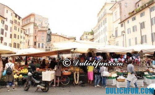 Kinh nghiệm mua sắm ở Italia chất lượng, giá rẻ: chợ trời Italia