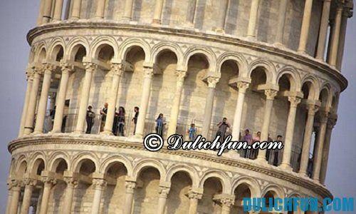 Hướng dẫn tham quan du lịch tháp nghiêng Pisa