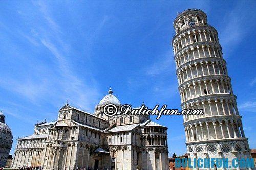 Hướng dẫn du lịch tháp nghiêng Pisa chi tiết, đầy đủ