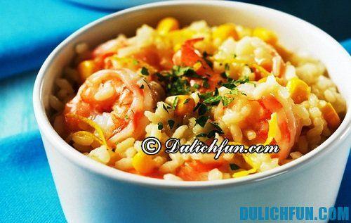 Du lịch Italia ăn gì ngon? Cơm Risotto món ăn nên thưởng thức 1 lần
