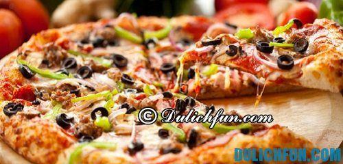 Tổng hợp những món ăn nổi tiếng ở Italia: món pizza hấp dẫn