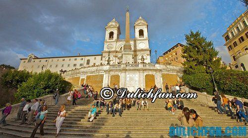 Top những địa điểm du lịch nổi tiếng ở Rome: bậc thang Tây Ban Nha - địa điểm du lịch lãng mạn ở Tây Ban Nha