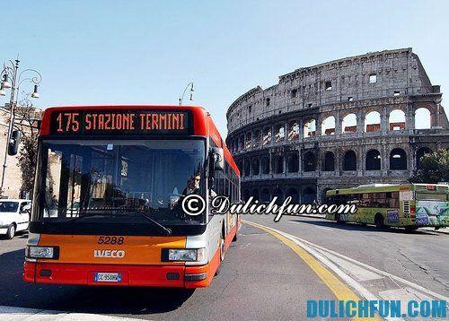 Kinh nghiệm du lịch Italia giá rẻ: Du lịch tham quan Italia bằng phương tiện gì? Xe bus phương tiện di chuyển tham quan Italia