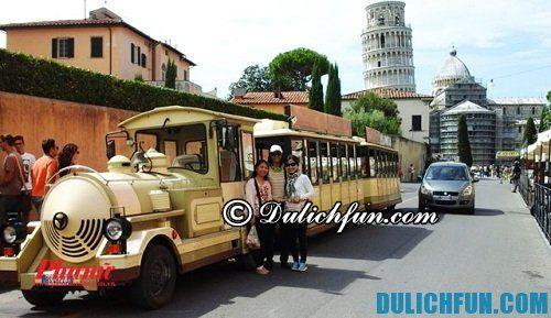Hướng dẫn di chuyển tới tháp nghiêng Pisa bằng tàu hỏa