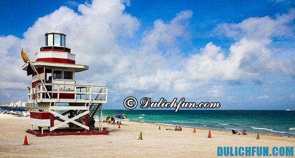 Bãi biển Miami, địa điểm du lịch nổi tiếng ở Mỹ, những địa danh du lịch hàng đầu ở Mỹ