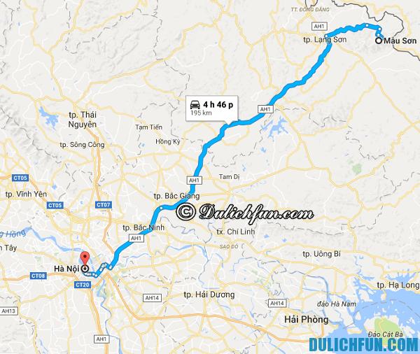 Tới Mẫu Sơn bằng phương tiện gì? Đường đi du lịch Mẫu Sơn từ Hà Nội. Kinh nghiệm phượt Mẫu Sơn
