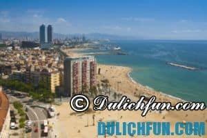 Bãi biển La Barceloneta, địa điểm du lịch lý tưởng nhất ở Barcelona vào mùa hè