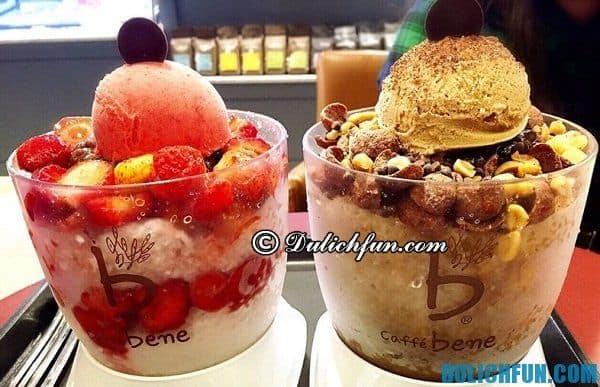 Địa chỉ ăn Bingsu độc đáo cùng hương vị mới lạ ở Hàn Quốc: Quán bán Bingsu ngon rẻ ở Hàn Quốc