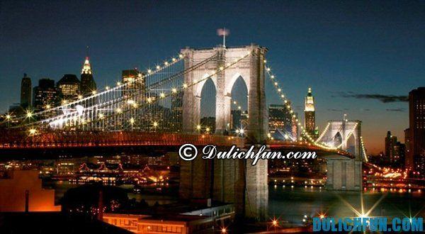 Cầu Brooklyn địa điểm tham quan miễn phí ở New York không nên bỏ qua. Khám phá địa danh du lịch miễn phí ở New York