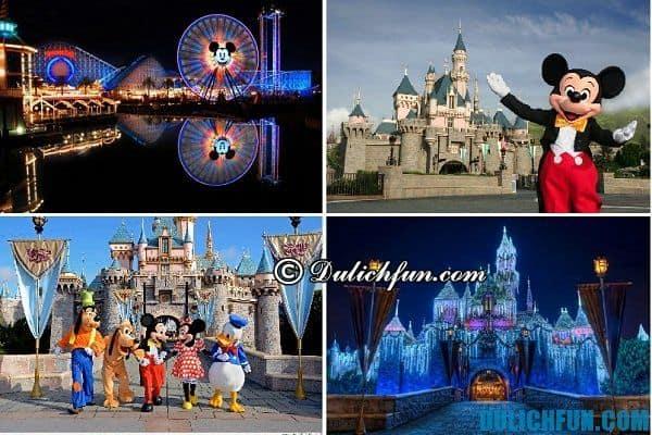 Công viên Disneyland, địa điểm vui chơi nổi tiếng ở Los Angeles. Điểm đến thú vị hàng đầu ở Los Angeles