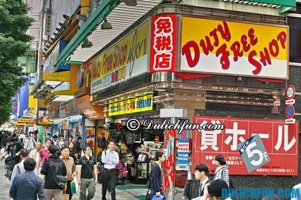 KInh nghiệm mua hàng miễn thuế ở Nhật Bản. Địa chỉ mua hàng miễn thuế ở Nhật Bản