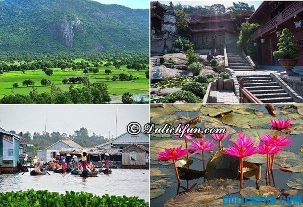 Các điểm du lịch nổi tiếng ở Châu Đốc. Kinh nghiệm du lịch Châu Đốc, nơi vui chơi, ngắm cảnh đẹp ở Châu Đốc