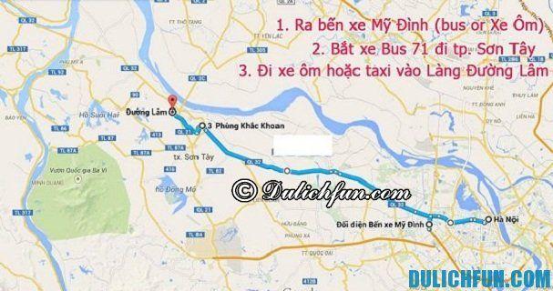 Kinh nghiệm du lịch Đường Lâm - phương tiện di chuyển: Hướng dẫn đường đi du lịch làng cổ Đường Lâm từ Hà Nội