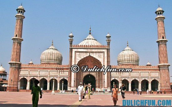 Kinh nghiệm du lịch New Delhi: Jama Masjid, địa điểm tham quan, du lịch nổi tiếng ở New Delhi nhất định bạn phải tới
