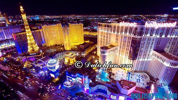 Las Vegas, địa điểm du lịch nổi tiếng ở Mỹ, địa điểm du lịch Mỹ tuyệt vời, thú vị.