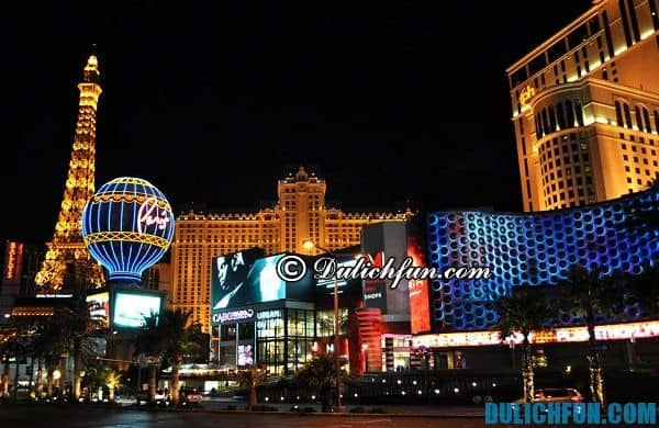 Địa điểm du lịch nổi tiếng ở las Vegas thu hút du khách. Du lịch Las Vegas vui chơi ở đâu đẹp, nổi tiếng