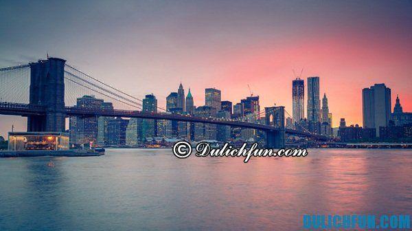 New York địa điểm du lịch Mỹ nổi tiếng hấp dẫn. Khám phá những địa điểm du lịch Mỹ đẹp