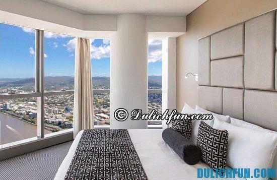 Nên ở đâu, khách sạn nào khi du lịch Brisbane? Nhà nghỉ, khách sạn đẹp, nổi tiếng ở Brisbane