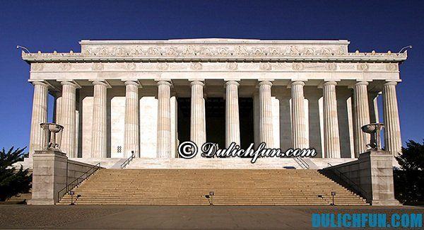 Nhà tưởng niệm Lincoln, địa danh du lịch nổi tiếng ở Washington, địa danh du lịch hấp dẫn ở Washington