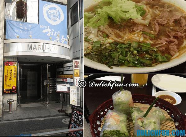 Địa chỉ ăn uống món Việt Nam tại Tokyo ngon, rẻ, chất lượng, nổi tiếng. Các nhà hàng Việt Nam hấp dẫn ở Tokyo