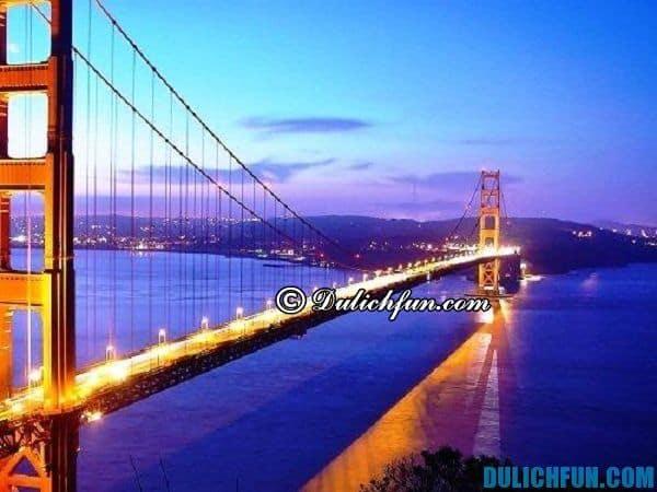 San Francisco, địa danh du lịch nổi tiếng ở Mỹ, địa điểm du lịch thu hút du khách. Địa điểm du lịch Mỹ sôi động, náo nhiệt