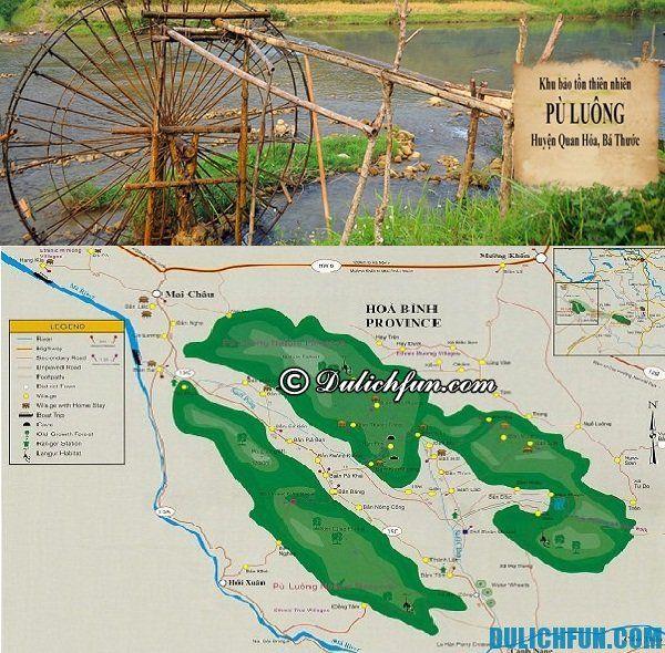Hướng dẫn cách di chuyển tham quan, khám phá Pù Luông, Thanh Hóa. Địa điểm du lịch tại Pù Luông. Du lịch bụi Pù Luông
