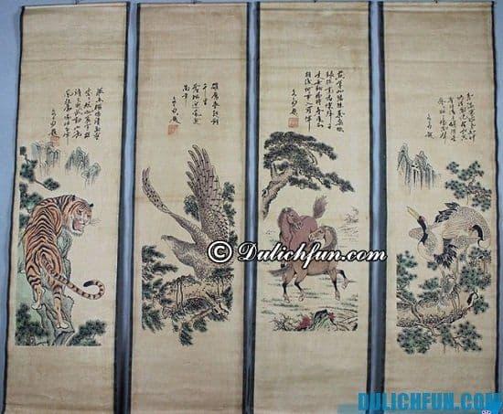 Mua gì, ở đâu khi du lịch Trung Quốc? Tranh cuộn, món quà lưu niệm nên mua khi du lịch Trung Quốc, du lịch Trung Quốc mua gì về làm quà?