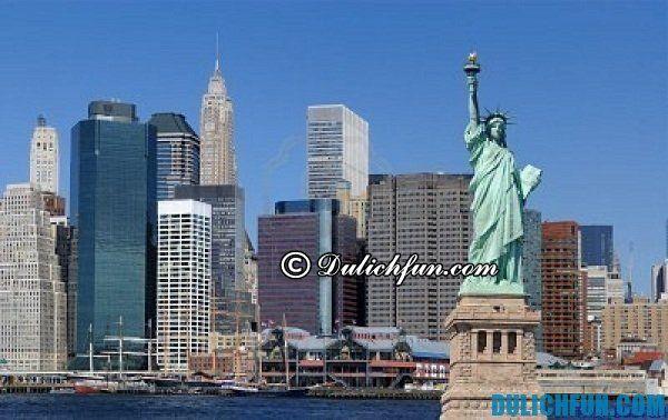 Tượng nữ thần tự do, địa điểm du lịch miễn phí ở New York cực hấp dẫn. Nơi vui chơi miễn phí ở New York nổi tiếng