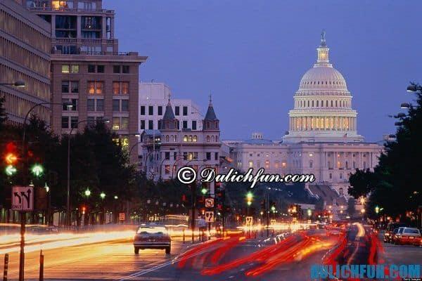 Washington DC địa điểm du lịch nổi tiếng ở Mỹ, địa điểm dừng chân lý tưởng khi du lịch ở Mỹ